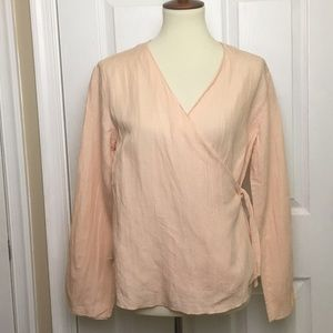 ❤️5 for $25❤️Jill Coral Wrap Top Size SP